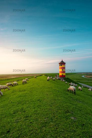 A beautiful lighthouse on the East Frisian coast