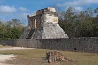 the temple of the bearded man in chichen itza mexico