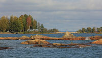 Colourful trees and rock formations in Vita Sannar.