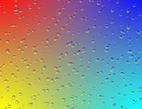 Rainbow glass with water drops