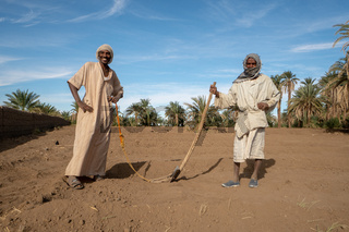 Nubian farmers pose for picture in northern Sudan