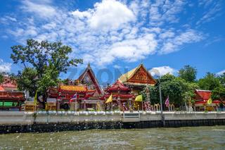 Buddhist Temple on Khlong, Bangkok, Thailand