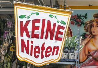 Banner mit dem Text Keine Nieten