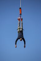 Bungee jumping blue sky