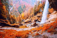 Waterfall Pericnik in Slovenia, Europe