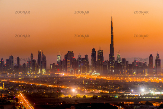 Panoramic view of Dubai, United Arab Emirates