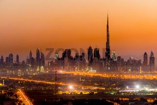 Panoramic view of Dubai, United Arab Emirates