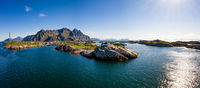 Henningsvaer Lofoten is an archipelago in the county of Nordland, Norway.
