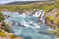 Amazing waterfalls of Hraunfossar and Barnafoss, Iceland
