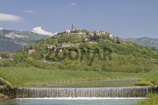 Buzet an der Mirna in Istrien