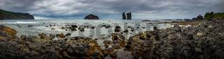 Küstenpanorama bei stürmischen Wetter