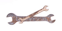 Old wrenches isolated