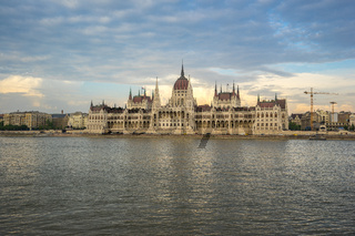 Budapest Parliament Building with Danube River in Hungary