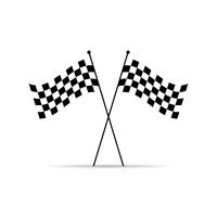Vector illustration finish flags. Symbol of race. Sign of flag. Race competition. Flar design. EPS 10.