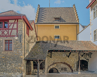 Historische Gebäude Klosterstrasse Schaffhausen, Schweiz