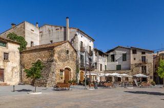 Main square in Besalu, Spain