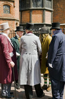 characters in victorian dress at the dickens fesival Rochester Kent