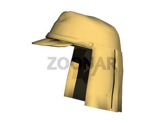 gelbe Uniformmütze der Wüstenarmee
