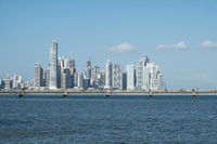Panama City coastal view skyline  of business district