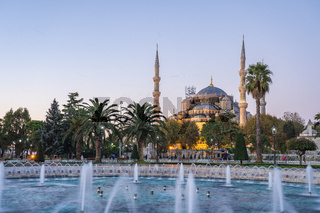 Sultan Ahmed Mosque in Istanbul city, Turkey