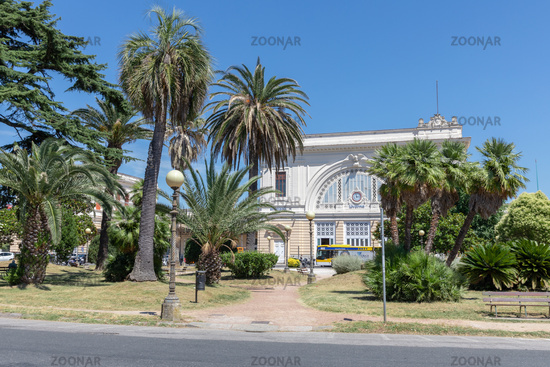 Panoramic view of railway station of Lovorno