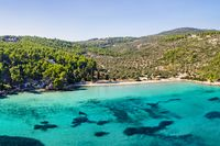 The beach Tzortzi Gialos of Alonissos from drone, Greece
