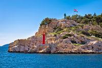 Makarska cliff walkway by the sea view