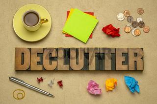 declutter lettering in wood type
