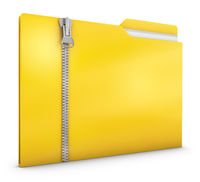 Yellow folder with zipper