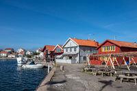 Hafen in Mollösund in Schweden