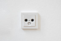 internet and tv outlet , cable tv box socket