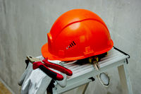 Protective helmet, tool for safe operation. Renovation