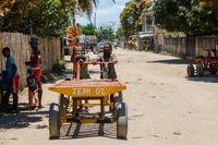 Malagasy man on main street of Maroantsetra, Madagascar