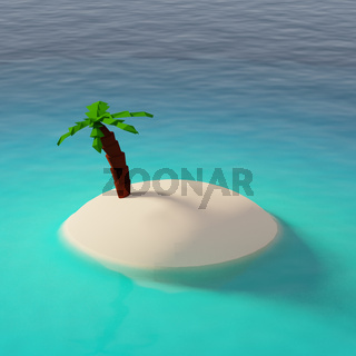 Empty tropical island