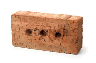 Rough red clay  brick