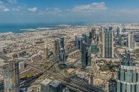 Burj Khalifa, Aussicht Besucherplattform, 452,2m, Dubai.