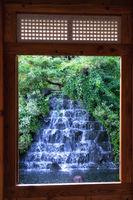 cheongun literature library waterfall