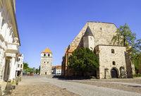 BartholomŠuskirche und Glockenturm, Schlossfreiheit, Zerbst/Anhalt, Sachsen-Anhalt, Deutschland