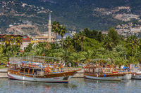 Boats In The harbour, Antalya, Turkey