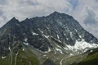 Felsige Bergkette der Schweizer Alpen, Val de Bagnes, Wallis, Schweiz