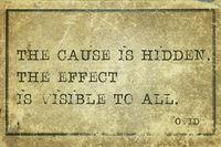 hidden cause Ovid
