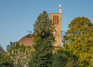 Katholische Kirche St. Theresia Rheineck, Kanton St. Gallen, Schweiz