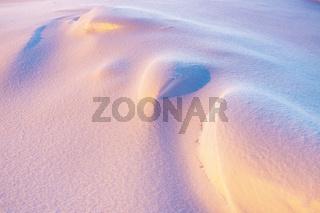 Schneestukturen, Soeroeya, Finnmark