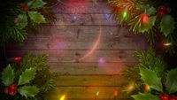 Closeup colorful garland on wood background