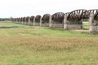 Alte Eisenbahnbrücke bei Dömitz an der Elbe