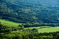 Hechingen town landscape in Germany