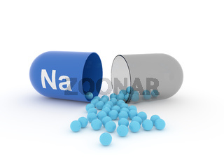 Open capsule with Na Sodium