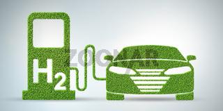 Hydrogen car concept - 3d rendering
