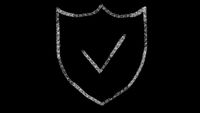 web security icon designed with drawing style on blackboard, animated footage ideal for compositing and motiongrafics