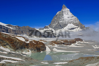 Matterhorn. Top in the Pennine Alps on the border of Switzerland and Italy